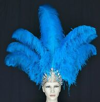 Carnival -Dance Ostrich Feather Headdress Showgirl Samba - MADE IN USA