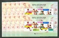 10 x Korea-Süd 1998 Fußball-WM 2002 Block 653 **