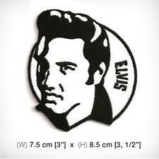 new ELVIS EMBROIDERED PATCH IRON ON or SEW . everlasting King of Rock and Roll
