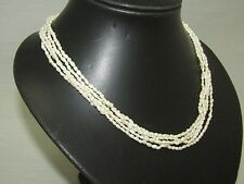 5 Strand Fresh Water Pearl Necklace with 14K Yellow Gold Clasp