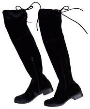Catherine Malandrino Black Velvet Boots Over The Knee Size 9