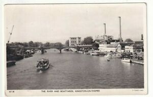 A Tuck's Real Photo Post Card of The River And Boatyards, Kingston-Upon-Thames