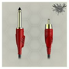 1X New BIG WASP RCA Clip Cord High Intensity Anti-corossion Tattoo Power Supply
