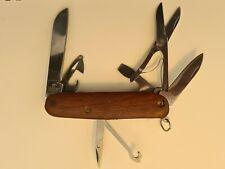 Vintage Victorinox Pocket Knife with Wooden Handle