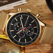 CURREN Luxury Watch Men Watches Gold Steel Quartz Calendar Wristwatches 8227 New