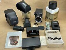 Rolleiflex SLX Camera Outfit w/ 80mm Planar ,Prism ,2x converter, polaroid back+