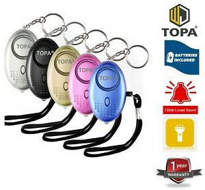 Self Defence 140dB Police Approved Alarm Keychain Light Emergncy Safe Anti-rape