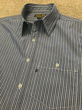 RALPH LAUREN POLO JEANS COMPANY MONOGRAM BLUE STRIPE SHIRT SMALL COST £95