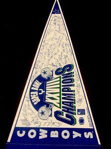 1992 Signature Dallas Cowboys SuperBowl Champs 12x30 Pennant Troy Aikman