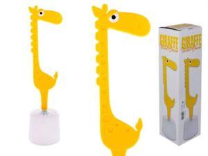 3 x Giraffe Toilet Brush & Holder 45 cm High Novelty WC Loo Cleaner Set