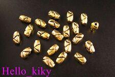 200Pcs Antiqued gold plt carved barrel spacer beads A41