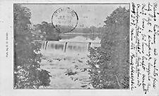 WAPPINGERS FALLS  NEW YORK~UPPER DAM & LAKE-D D SMITH PUBL POSTCARD 1907 PSTMK