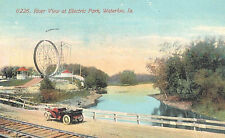 Vintage Postcard-River VIew at Electric Park, Waterloo, IA