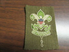 Scoutmaster patch, early on Dacron Wool, folded under      ek