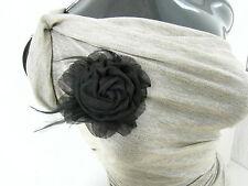 Brosche,Haarschmuck,Ansteckblume,Fascinator,Haarblume,Federn ,schwarz