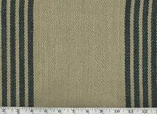 Black Khaki Upholstery Fabric Ralph Lauren R$212y Driftwood Stripe CL Squid Ink