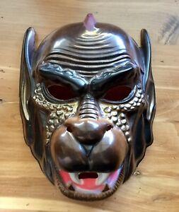 Vntg Plastic Halloween Costume Mask Fanged Monkey Demon Dog Beast BEN COOPER