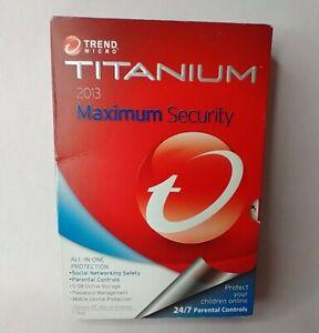 Trend Micro Titanium 2013 Maximum Security Social Networking Safety Parental