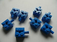 Lego 8 essieux bleus set 5955 3538 10129 6919 / 8 blue brick modified