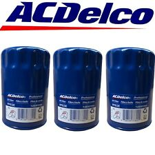 ACDelco PF63 Engine Oil Filter For Buick Cadillac Chevrolet GMC OEM 3 Pack