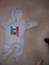 INFANT 0 - 3MONTHS - GRAY FLEECE ONE PIECE JACKET - THOMAS THE TRAIN - USED