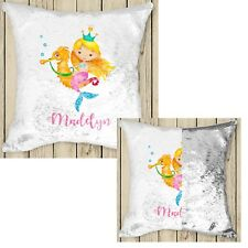 Personalised Magic Sequin Cushion Cover 250 designs to choose from Gold White
