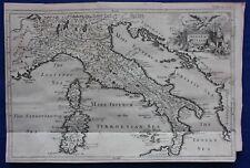 Original antique map antique Italie, Sardaigne, Corse, J. Blundell 1747