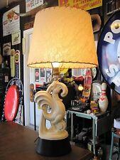 """VTG Mid Century rooster table lamp farm chicken bird ceramic retro 27"""" tall"""
