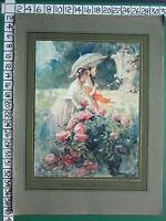 C1930 Francese Stampa L'Illustrazione ~ IN The Rosa Giardino ~ Antoine Calbet