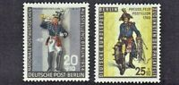 "1956 Germany BERLIN SEMI-POSTAL ""Prussian Soldiers"" Sc#9NB12-13 Mint/H Scarce**"