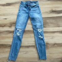 American Eagle Super Stretch Jegging Destroyed Jeans size 00 Regular
