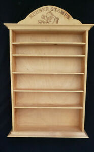 Vintage Wooden Store Display for Rubber Stamps & Supplies