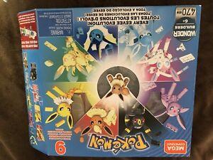 Mega Construx Pokémon Every Eevee Evolution - 9 Figures, 7 Booklets and box.