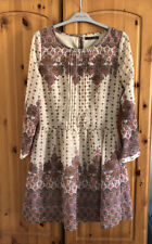 Ladies Long Sleeve Floaty Tunic Top Dress - Size 10 (3)