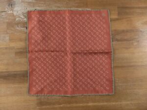 CANALI reversible silk pocket square authentic