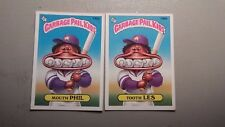 1986 GARBAGE PAIL KIDS 2 CARD LOT 140A & 140B MOUTH PHIL & TOOTH LES