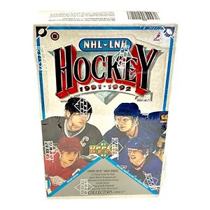 1991-1992 UPPER DECK HIGH SERIES HOCKEY CARD BOX  NHL–LNH THE COLLECTOR'S CHOICE