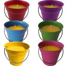 4 x Citronella Kerze im Eimer 4 versch. Farben Anti Mücken Outdoor Mückenabwehr