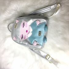 NWT Betsey Johnson Silver Christmas Princess  Cat Back Pack