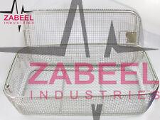 Micro Mesh Tray Autoclave Sterilizer Mesh Basket 40x20x10cm Instruments Case ZI