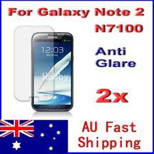 2x Samsung Galaxy Note2 N7100 Anti Glare Screen Protector Thin Film Guard Cover