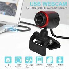 Webcam USB Computer Web HD Video Camera Desktop Cam w/ Microphone For PC Laptop
