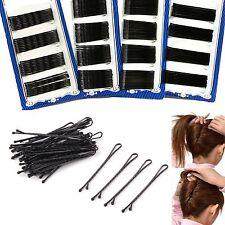 60 Stück Unsichtbare Haar-Klipp-Flat Top Bobby Pins Grips Salon Spange Schwarz