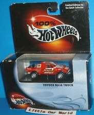 HOT WHEELS 100% Black Box Toyota Baja 4x4 Pickup Truck Real Riders Sealed NIB
