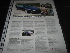 Maserati Quattroporte IV 4 Article reg no T129....?