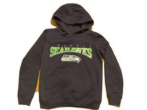 SEATTLE SEAHAWKS NFL TEAM APPAREL YOUTH HOODIE PULLOVER SWEATSHIRT SMALL 8
