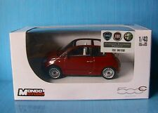 FIAT NUOVA 500C DECOUVRABLE METAL RED 2009 MONDO MOTORS 1/43 CABRIOLET 500 ROUGE