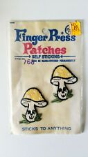 Lot Of 2 True Vintage Mushrooms Embroidered Patches 70s Patch Inter-All