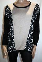 FOIL Brand Black Beige Long Sleeve Sweater Top Size L LIKE NEW #AN02