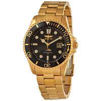 Invicta Pro Diver Quartz Black Dial Yellow Gold-tone Men's Watch 30026